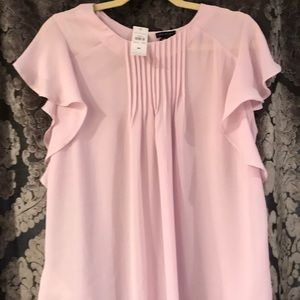 New with tags Ann Taylor pink frilly blouse